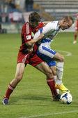 MTK vs. Debreceni VSC OTP Bank League football match — Stock Photo