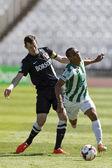 Ferencvaros vs. Diosgyori VTK OTP Bank League football match — Stock Photo