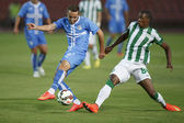 Ferencvarosi TC vs. HNK Rijeka UEFA EL football match — Stock Photo