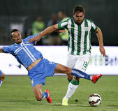 Ferencvarosi TC vs. HNK Rijeka UEFA EL football match — 图库照片