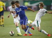 Ferencvaros vs. Chelsea stadium opening football match — Stock Photo