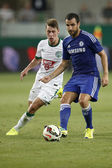 Ferencvaros vs. Chelsea stadium opening football match — 图库照片