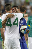 Ferencvaros vs. Chelsea stadium opening football match — Stock Photo