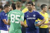 チェルシー スタジアム サッカーを開く対フェレンクヴァロスに一致します。 — ストック写真