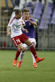 UTE vs. DVSC OTP Bank League football match — Stock Photo