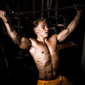 Strong man training weights — Stock Photo