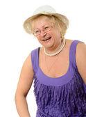 Kadın gülüyor. — Stok fotoğraf