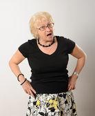 Woman speaking or singing. — Stock Photo