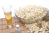 Popcorn and beer — Foto Stock