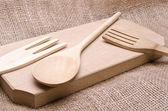 Kitchen wooden tools — Stock Photo