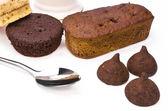 Cake and chocolate sweet dessert — ストック写真