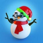 3d snowman — Stock Photo #35725367