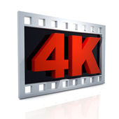 4k icon — Stock Photo