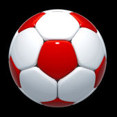 3d football, soccer ball glossiness — Stock Photo