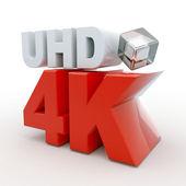 Ultra HD 4k icon — Stock Photo