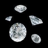 3d white diamonds — Stock Photo