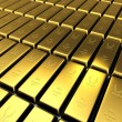 3d golden bullion — Stock Photo