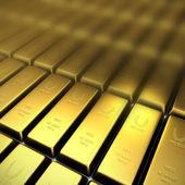 3d gold bullion — Stock Photo