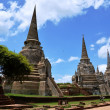 Wat Phra Sri Sanphet at Ayutthaya Historical Park Thailand — Stock Photo