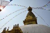 Swayambhunath Temple or Monkey Temple — Stock fotografie