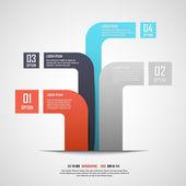 Modern info-graphics banner. Vector illustration. — Stock Vector