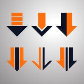 Striscione frecce moderne. illustrazione vettoriale. — Vettoriale Stock