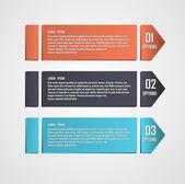Modern arrows info-graphics banner. Vector illustration. — Stock Vector