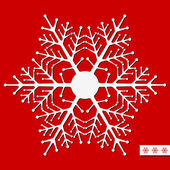 Vector snowflake for Christmas design. Vector illustration. — Stock Vector