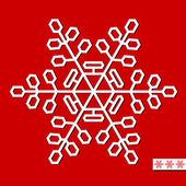 Fiocco di neve vettoriale per la progettazione di natale. illustrazione vettoriale. — Vettoriale Stock