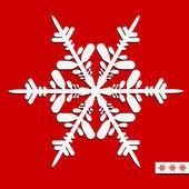 クリスマス デザインのベクトル スノーフレーク。ベクトル イラスト. — ストックベクタ