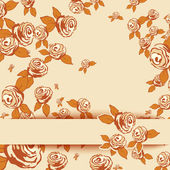 Vintage background with roses. Vector illustration. — Stock Vector