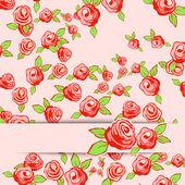バラとビンテージ背景ベクトル イラスト. — ストックベクタ