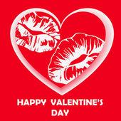 Happy Valentinstag-Card. Vektor-illustration. — Stockvektor