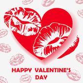 Happy Valentine's Day card. Vector illustration. — Stock Vector