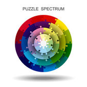 Circle puzzle — Stock Vector