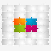 Puzzle Vector Illustration — Stock Vector