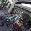 Bangkok traffic jam with cars and motorbikes — Stock Photo #37414041