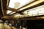 Bangkok sky train, road junction three-dimensional — Stockfoto