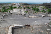 Devastation after volcano eruption — Stock Photo
