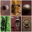 Montage of old door handles — Stock Photo