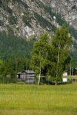 Little house in Halstatt, Austria — Stock Photo