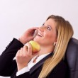 Smiling business woman phoning — Stock Photo
