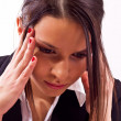Stressed business woman — Stock Photo