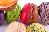 Several types of colorful macarons — Стоковое фото