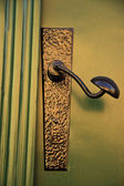 Wrought iron door handle — Stockfoto