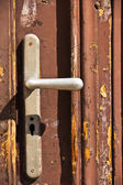 Aged door handle — Stock Photo