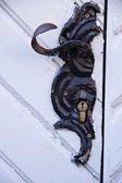 Ancient door handle — Stock Photo