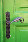 Old wrought iron door handle — Foto de Stock