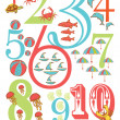 Ocean Theme Numbers Poster for Kids in Vector  — Stock Vector