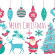 Merry Christmas Icons and Elements Set in Vector — Stock Vector #35293121
